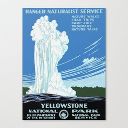 Vintage Yellowstone National Park Travel Canvas Print