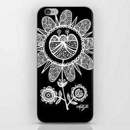 White Flower 116 iPhone Skin