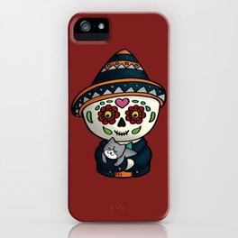 Calavera with a cat iPhone Case