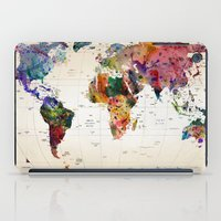 dinosaur iPad Cases featuring map by mark ashkenazi