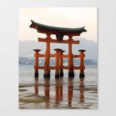 Itsukushime Shrine Torii Gate Canvas Print