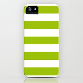 Limerick - solid color - white stripes pattern iPhone Case