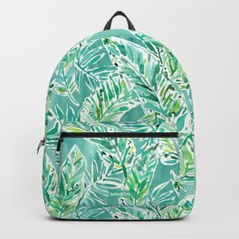 LEAFY ABUNDANCE Green Banana Leaf Print Backpack