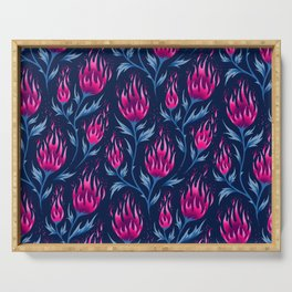 Fire Flower - Dark Pink Serving Tray