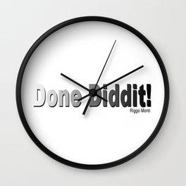 Riggo Monti Design #25 - Done Diddit! Wall Clock