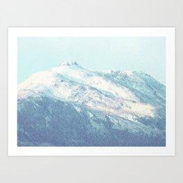 Ben Ledi, Perthshire, Scotland. Winter Snow. Version 1 (small) Art Print