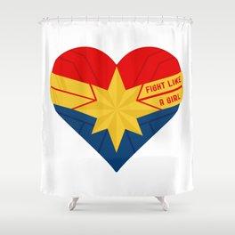 Superhero Heart Captain Shower Curtain