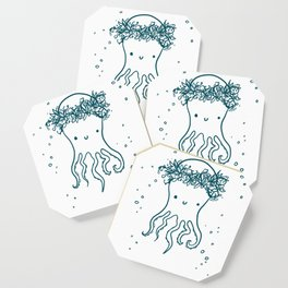 Floral Crown Octopus Coaster