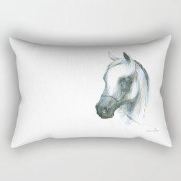 Horse head (Arabian mare from Janow Podlaski) Rectangular Pillow