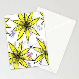 Spring yellow daisies Stationery Cards