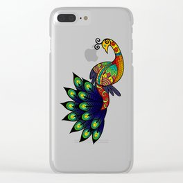 Coy peacock Clear iPhone Case