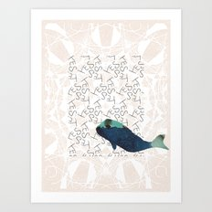 Blue Whale 2 Yes Art Print