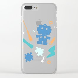 Young Pastel Engineer Clear iPhone Case