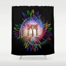 Abstract perfektion - Brooklyn Bridge Shower Curtain