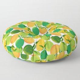 Lemons and Limes Floor Pillow