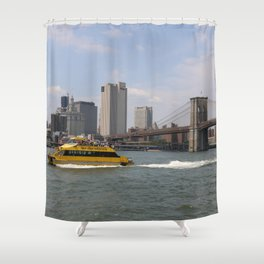 A Classic New York Scene Shower Curtain
