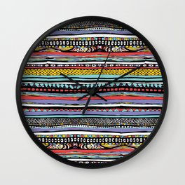 patterns of color Wall Clock