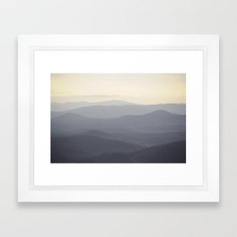 Real Mountains? Framed Art Print
