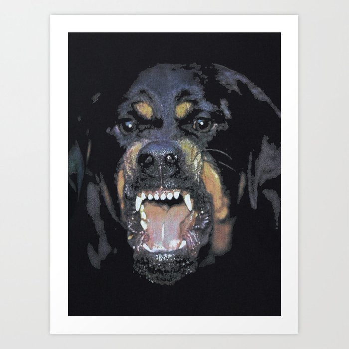 Givenchy Rottweiler Art Print By Hazelbyhelinsu