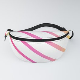 Pink Red Yellow Retro Striped Color Gradient Fanny Pack