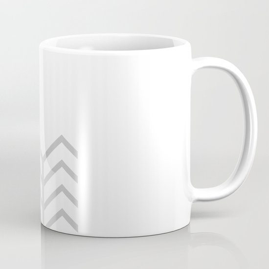 GRAY & WHITE LACE CHEVRON Mug