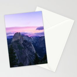 The Mountains and Purple Clouds Stationery Cards