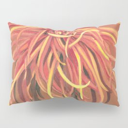Big Orange Pop Art Chrysthanthemum Pillow Sham