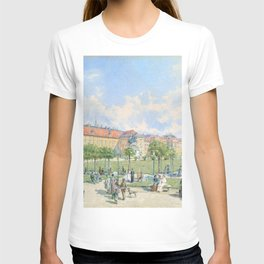 Franz Alt - The Heldenplatz in Vienna with a view of the Leopoldine wing of the Hofburg - Digital Remastered T-shirt