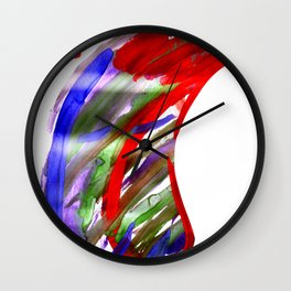 Face and a moon Wall Clock