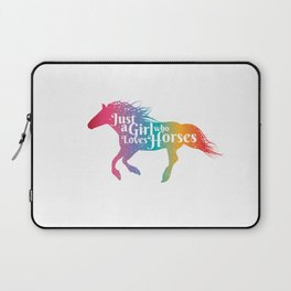 Horse Lover Gift Just A Girl Who Loves Horses Laptop Sleeve