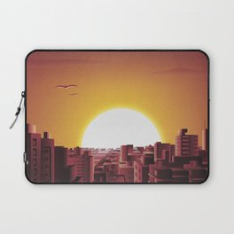 Warm sunset in the City Laptop Sleeve