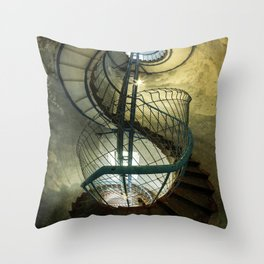 Inside the old lighthouse Throw Pillow