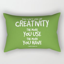 Creativity Quote - Maya Angelou Rectangular Pillow