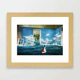 Sailing Condemned Seas Framed Art Print