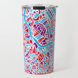Vienna City Map Poster Travel Mug