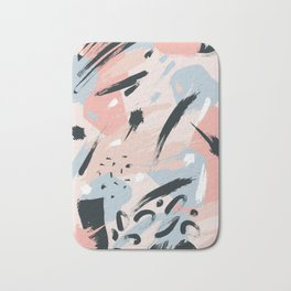 Pastel abstraction I Bath Mat