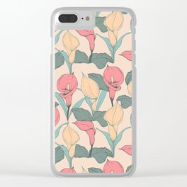Calla Lilies pattern Clear iPhone Case