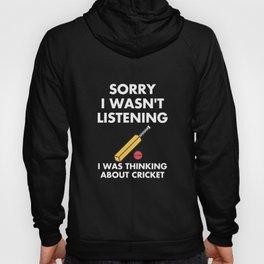Cricket Game T-Shirt - Funny Listening - Bat Hoody