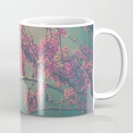 Spring Botanical -- Eastern Redbud Tree in Flower Vintage Coffee Mug
