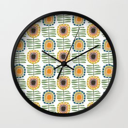 MCM Sunflowers Wall Clock