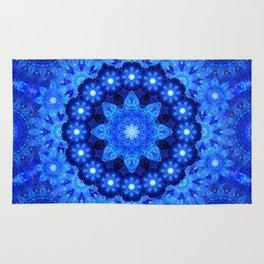 Lapis Crown Mandala Rug