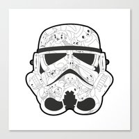 stormtrooper Canvas Prints featuring Stormtrooper by Santos
