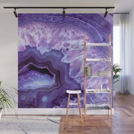 Purple Lavender Quartz Crystal Wall Mural