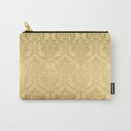 Gold tones floral damasks pattern Carry-All Pouch