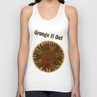 grunge Tank Tops featuring Grunge by BohemianBound