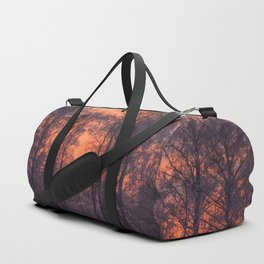 Winter Scene - Frosty Trees Against The Sunset #decor #society6 #homedecor Duffle Bag