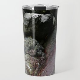Ocean Weathered Cave Rock Formation Cornwall Travel Mug