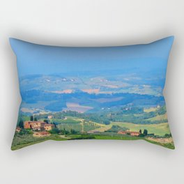 Hills of Tuscany Rectangular Pillow
