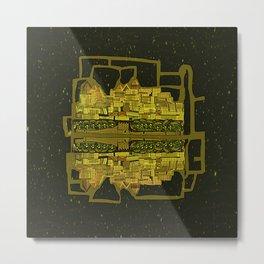 Space Colonization Metal Print