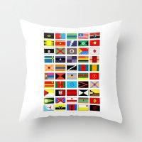thundercats Throw Pillows featuring SH as flags by Fabian Gonzalez
